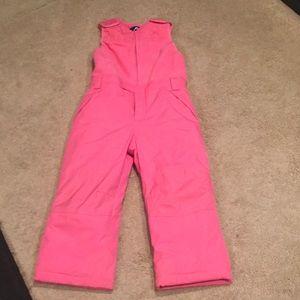 Girls pink snow suit